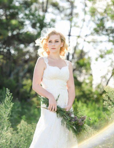 Summer Haze And Dew Drops Wedding Dress